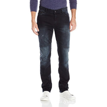 Jeans para hombre, Slim Straight Fit Denim Moto Jean