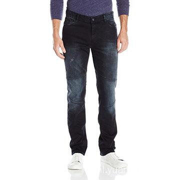 Jeans Heren, Slim Straight Fit Denim Moto Jean
