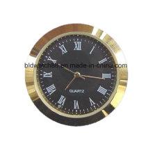 Gold Plated Small Mini Metal Insert Clock 27mm