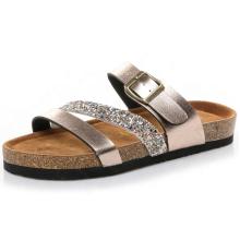 Stock beach eva shoes cork sole women flat sandals