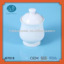 Pure white ceramic spice mason jar