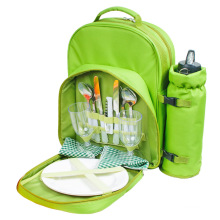 picnic bag set in picnic bags 2 Person Picnic Backpack Bag with Insulated Cooler Compartment for Men Women