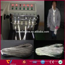 China fábrica de prata brilhante cabo de fone de ouvido reflexivo