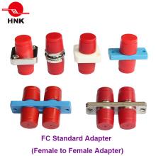 FC Simplex Duplex Plástico ou Fibra Óptica Adaptador de Metal