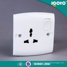 Igoto British Standard E16 New Design Electrical Multi 3 Pin Light Wall Socket