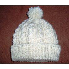 Сделано на заказ Ручная трикотажная шапка с POM POM