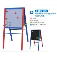 Caballete de madera con pizarra magnética y pizarra para niños para niños