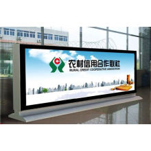 Street Outside Bank Business Advertising Double Sides Scrolling Display LED Light Boxes