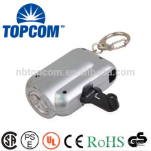 2 conduziu a lanterna elétrica conduzida do dínamo do mini dínamo plástico do ABS