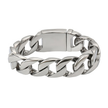 75518 Xuping proveedores de joyería de china acero inoxidable nuevas cadenas de oro pulseras brazaletes diseño simple para hombres