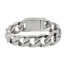 75518 Xuping china fornecedores de jóias de aço inoxidável pulseiras cadeia de ouro novo pulseiras design simples para homens