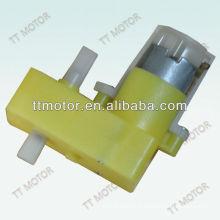 dc gear motor plastic double shaft