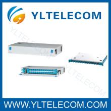 19 Inch 1U 24Core Sliding Fiber Optic Patch Panel ODF Fixed type