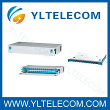 19 polegadas 1U 24Core deslizamento fibra óptica Patch Panel ODF tipo fixo