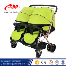 Alibaba Top Verkauf Kinderwagen, 3 in 1 Aluminium Kinderwagen, zwei Kindersitz Kinderwagen