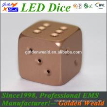 Red Green Blue LED lighting MCU control colorful LED aluminium alloy dice