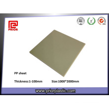 Pure Polypropylene PP Sheets with Grey Color
