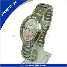 Moda quartzo relógio suíço com banda de aço inoxidável