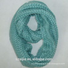 Fashiion new design acrylic knitted infinity scarf