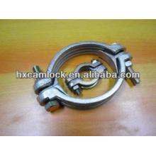 Double bolt heavy duty hose clamp