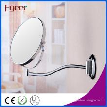 Fyeer Attractive Round Wall Mirror Magnifying Brass Makeup Mirror