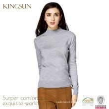 Women 100% Merino Wool Knitted Round Neck Pullover Sweater