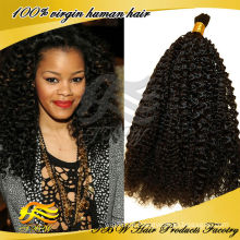 Großhandel billig indische menschliche Jungfrau Afro Jerry Curl Bulk-Haar