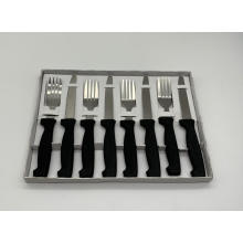 Ensemble couteau et fourchette à steak 8pcs