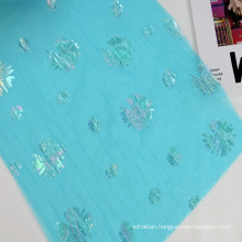 Light Weight Floral Printed Foil Print Hot Stamping 20D Woven 100% Nylon Taffeta Fabric