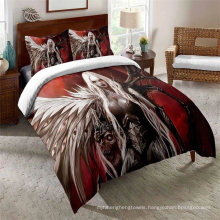3D Printed Bedding Set with Eagle, Also Suitable for Duvet Cover