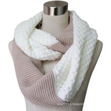 Lady Fashion Acrylic Cashmere Pashmina Knitted Infinity Scarf (YKY4186)