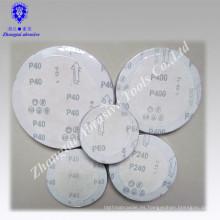 Disco lijador abrasivo de óxido de aluminio con gancho y lazo