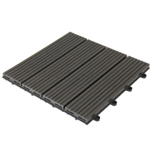 WPC Floor Tiles Easy Installation Composite DIY Interlocking Deck Tiles