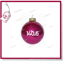 Full Round Colored Sublimation Ceramic Bauble with Printing