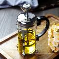 Chaleira de chá de vidro resistente ao calor, atuador de aço inoxidável