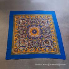 Baumwolle bedruckte blaue Schals Kleine Squares Schal