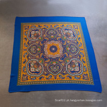 Cachecol de algodão impresso cachecol pequeno cachecol quadrado