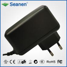 Adaptador de corriente de 12 vatios / 12 vatios con pin de Europa / EU para dispositivos móviles, decodificadores, impresoras, ADSL, audio y video o electrodomésticos