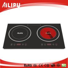 Electrodomésticos doble quemador utensilios de cocina de infrarrojos