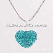 Colgante de cristal hermoso del diseño de la forma del corazón para el día de tarjeta del día de San Valentín