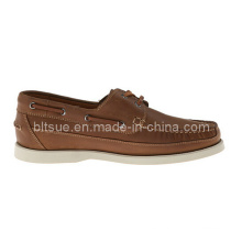 Nuevos Productos China Cheap Men Leather Boat Shoes