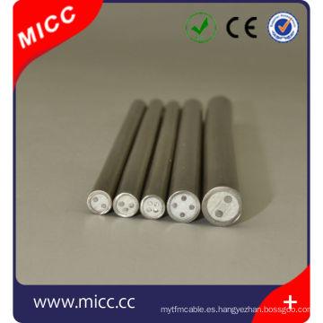 Tipo E Metal aislado forrado / E tipo diámetro pequeño MI Cable