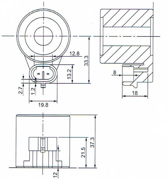 Dimension of BB13337320 Solenoid Coil: