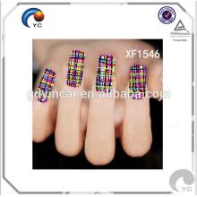 Feuille d'autocollants à ongles temporaire personnalisés de haute qualité