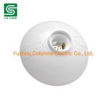 Plastic E27 Lamp Holder Round Light Socket Bulb Holder