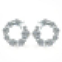 Damen Elegant 925 Sterling Silber Sternförmige Ohrringe Inlay Zirkon