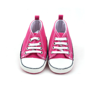 Venta al por mayor Rose Red Girls Niños lienzo zapatos casuales