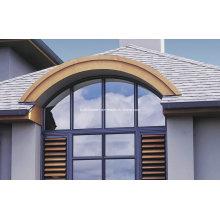 Benutzerdefinierte gebogene feste Top Aluminium Türen und Windows Preise