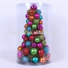 Arbre d'ornement multicolore de Noël de 30 cm de hauteur