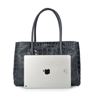 "Socha Business Bag Crocodile Embossing 15.6 ""Laptoptasche"